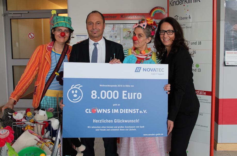 Spende der Novatec GmbH