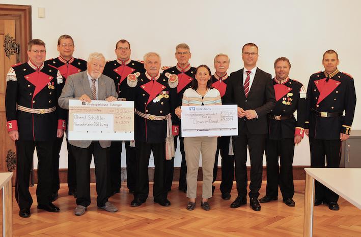 Spendenübergabe Bürgerwache Rottenburg