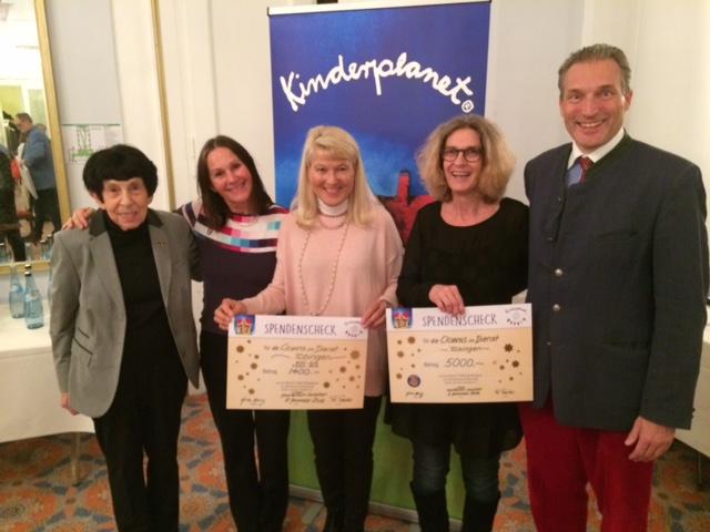 Erika Heinz, Christel Ruckgaber, Christina Böhm (Botschafterin der Kelly Vereinigung), Andrea Lang –Olivieri und S.K.H. Eberhard Herzog von Württemberg