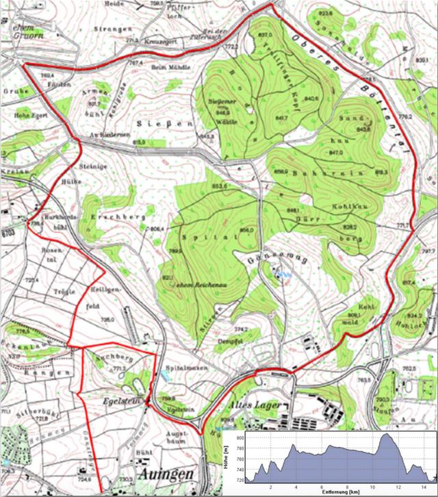Route des Spätzle- und Biospärenlaufs